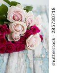 bunch of a pink roses | Shutterstock . vector #285730718