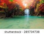 Beautiful Waterfall In Deep...