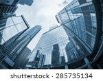 landscape of silhouettes of...   Shutterstock . vector #285735134