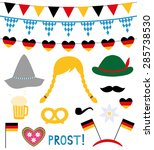 oktoberfest photo booth and... | Shutterstock .eps vector #285738530