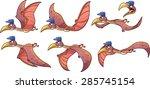 cartoon quetzalcoatlus dinosaur ... | Shutterstock .eps vector #285745154