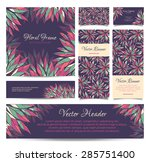 set of vector banners  business ... | Shutterstock .eps vector #285751400