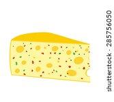 vector cheese  illustration... | Shutterstock .eps vector #285756050