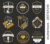 set of logos rock music and... | Shutterstock .eps vector #285765140