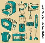 kitchen tools | Shutterstock .eps vector #285768599