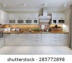 contemporary kitchen design. 3d ... | Shutterstock . vector #285772898