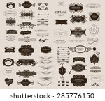 set of calligraphic elements... | Shutterstock .eps vector #285776150