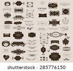 set of calligraphic elements...   Shutterstock .eps vector #285776150
