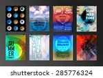 set of poster  flyer  brochure... | Shutterstock .eps vector #285776324
