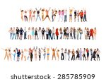 together we celebrate winning... | Shutterstock . vector #285785909