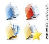 set of folders 3d style ...