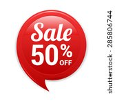 sale 50  off red label | Shutterstock .eps vector #285806744