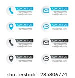 contact us labels  | Shutterstock .eps vector #285806774