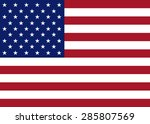 usa flag vector | Shutterstock .eps vector #285807569