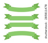 set of green ribbons | Shutterstock .eps vector #285811478