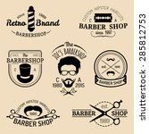 vector set of vintage hipster... | Shutterstock .eps vector #285812753