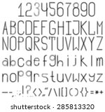 a blurred black and white font. ... | Shutterstock .eps vector #285813320
