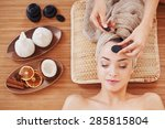 beautiful young woman at spa... | Shutterstock . vector #285815804