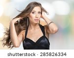 women  jewelry  human hair. | Shutterstock . vector #285826334
