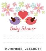 baby shower design  vector... | Shutterstock .eps vector #285838754