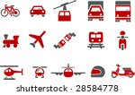 vector icons pack   red series  ... | Shutterstock .eps vector #28584778