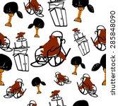 urious beaver pattern   Shutterstock .eps vector #285848090