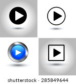 play button icon | Shutterstock .eps vector #285849644
