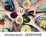 food beverage party meal drink... | Shutterstock . vector #285854408
