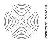 maze game illustration | Shutterstock .eps vector #285865448