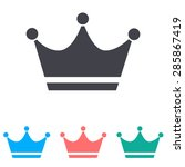 crown icon | Shutterstock .eps vector #285867419