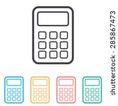 calculator line icon | Shutterstock .eps vector #285867473