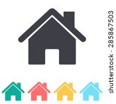 home icon | Shutterstock .eps vector #285867503