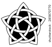 5 point celtic star knot vector ... | Shutterstock .eps vector #285870770