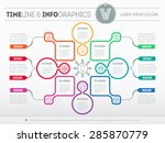 web template for circle diagram ... | Shutterstock .eps vector #285870779