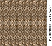brown stripe ethnic pattern... | Shutterstock . vector #285871979