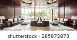 Stock photo luxury hotel lobby and furniture 285872873