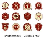 fire department logo and badges ... | Shutterstock . vector #285881759