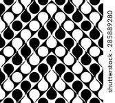 seamless curved shape pattern.... | Shutterstock .eps vector #285889280