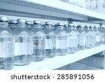 medicine bottles in row on...   Shutterstock . vector #285891056