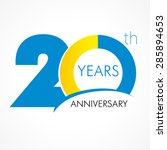 20 years old celebrating... | Shutterstock .eps vector #285894653