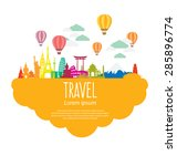travel and tourism concept... | Shutterstock .eps vector #285896774