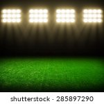 the soccer stadium with the... | Shutterstock . vector #285897290