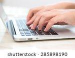 closeup of business woman hand...   Shutterstock . vector #285898190
