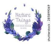 beautiful vector set flowers... | Shutterstock .eps vector #285899069