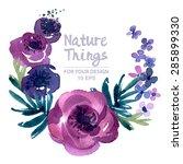 beautiful vector set flowers... | Shutterstock .eps vector #285899330