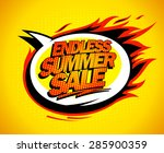 endless summer sale pop art... | Shutterstock .eps vector #285900359
