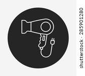 hair dryer line icon | Shutterstock .eps vector #285901280