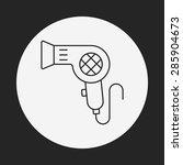 hair dryer line icon | Shutterstock .eps vector #285904673