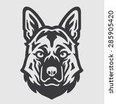 shepherd head logo mascot emblem | Shutterstock .eps vector #285905420