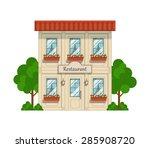 restaurant. eps10 vector... | Shutterstock .eps vector #285908720
